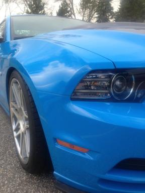 Grabber Blue 5.0 Mustang